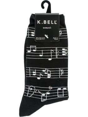05443abe13b0f Product Image Novelty Crew Socks - Making Music - Black