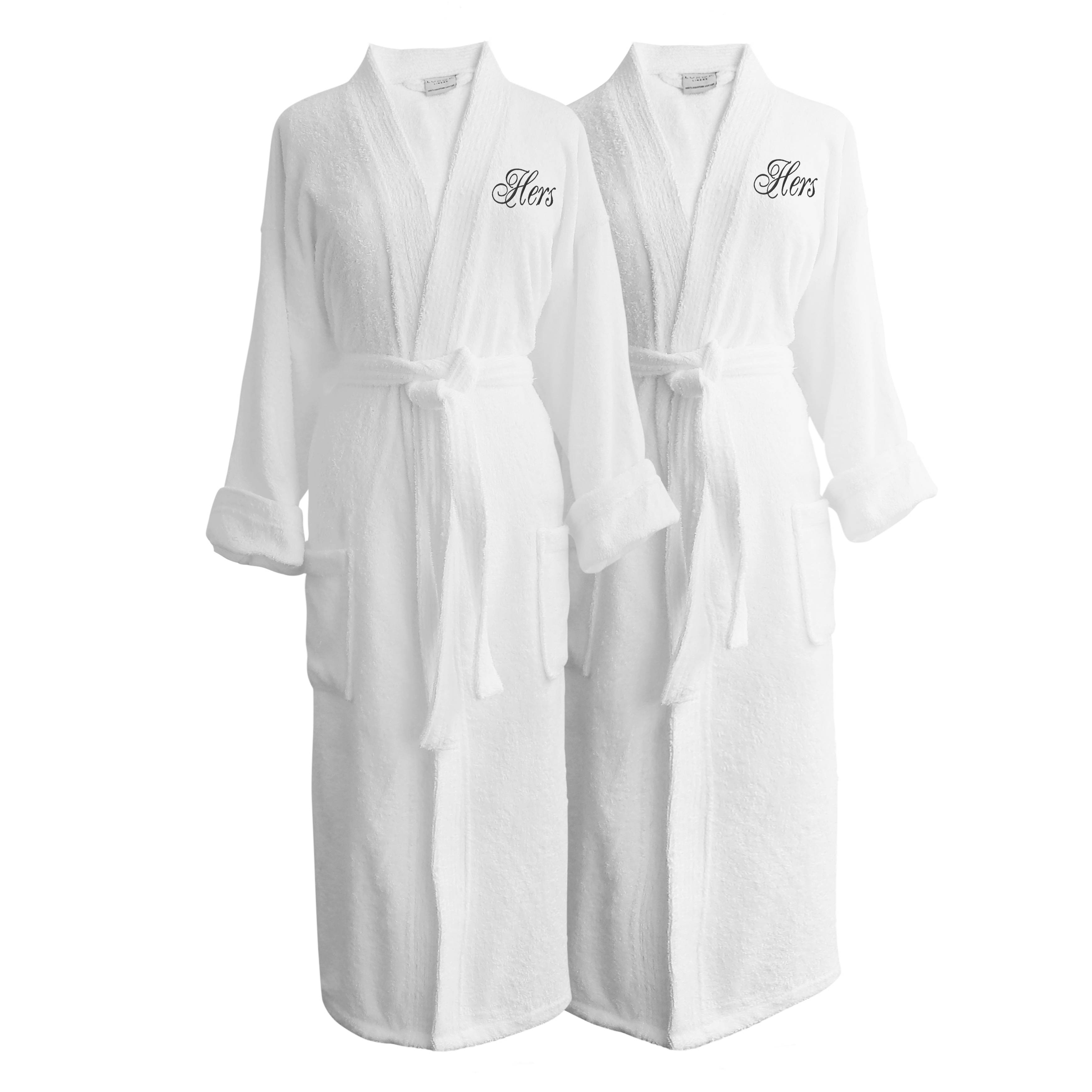 Luxor Linens Wyndham Egyptian Cotton Hers & Hers Terry Spa Robe Set