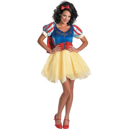 Sexy Snow White Theatre Costumes Princess Mini Dress Disney Princess Costume Sizes: Small for $<!---->