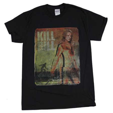 Kill Bill Mens T-Shirt - Distressed Blood Splattered Poster Image](Halloween Blood Splatter Clothes)
