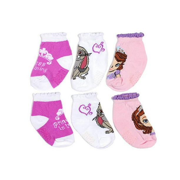 6-8 Disney Sofia The First Girls Character Knee High Socks 3 Pack