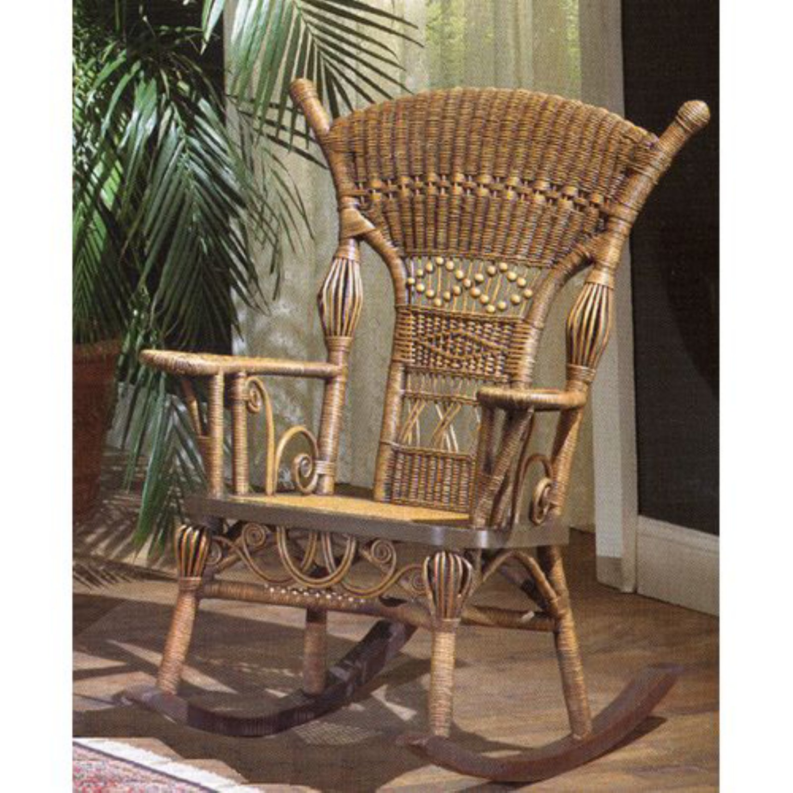 Aunt Millie Wicker Rocking Chair