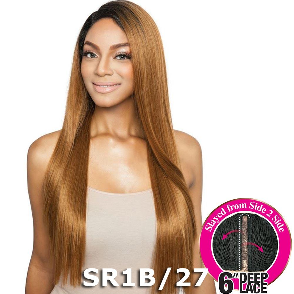 "Brown Sugar Side-2-Side 6"" Deep Lace Wig - BSD2604 NYC ARI (613 Champagne Blonde)"