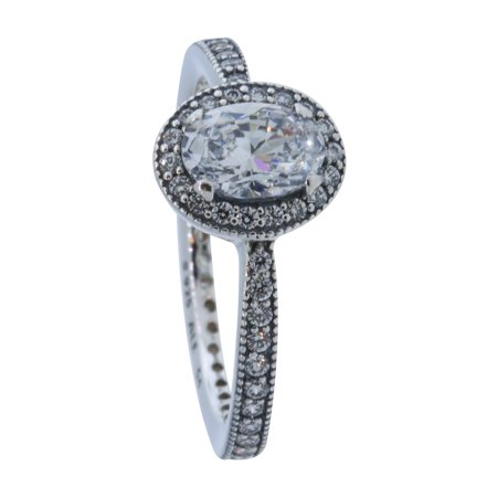 Authentic Vintage Elegance Ring, Clear CZ 191017CZ-48, 4.5 US, 48 - Bronze Elegance Ring