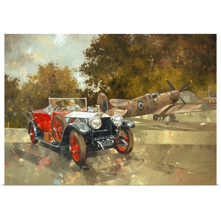 (Great BIG Canvas | Rolled Peter Miller Poster Print entitled Ghost and Spitfire)