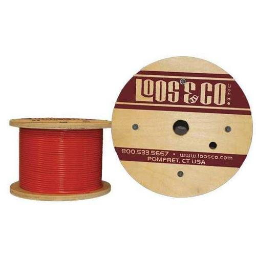 LOOS GC06377M1VO Cable,50 ft L,1/16 in,96 lb,Orange Vinyl G2409961