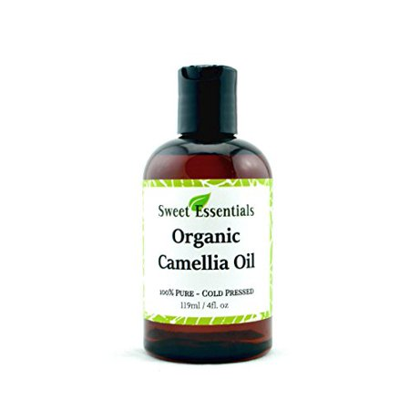 Organic Camellia Seed Oil | Imported From Japan | 4oz Bottle | 100% Pure | 100% Organic | For Hair & Skin Use | By Sweet (Sweet Vintage Japan)