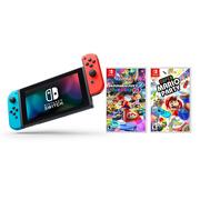 Nintendo Switch Mario Party Bundle: Super Mario Party, Mario Kart 8 Deluxe and Nintendo Switch 32GB Console with Neon Red and Blue Joy-Con