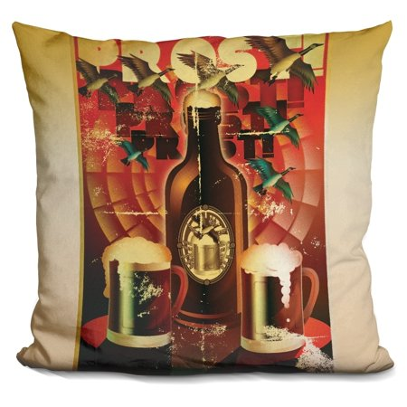 LiLiPi  Prost! Decorative Accent Throw Pillow