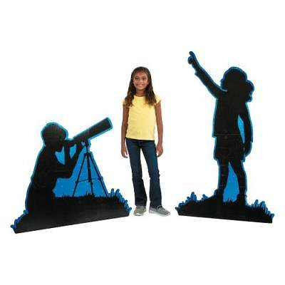 IN-13766201 God's Galaxy VBS Silhouette Kids Stand-Ups