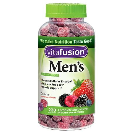 Vitafusion Men's Gummy Multivitamins, Natural Berry Flavors, 220