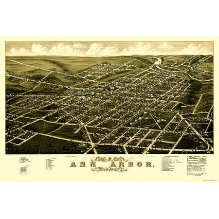 Ann Arbor Michigan - Beck 1880 - 23 x 34.30 ()