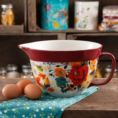 The Pioneer Woman 2.83-Quart Batter Bowl, 1 CT, Multiple Colors