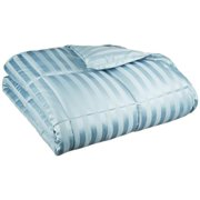 eLuxurySupply - Wide Stripes Down Alternative Microfiber Weight Comforter
