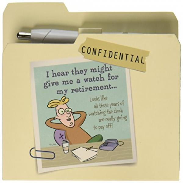 An Honest Day's Work Notepad with Pen, Retirement, 5 by 4-1/4-Inch