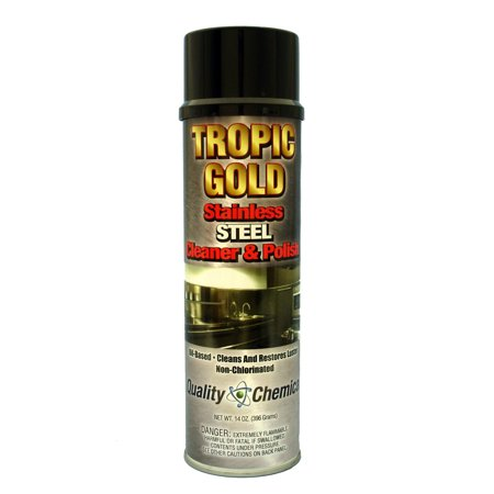 Tropic Gold Stainless Steel Polish & Cleaner - Case of