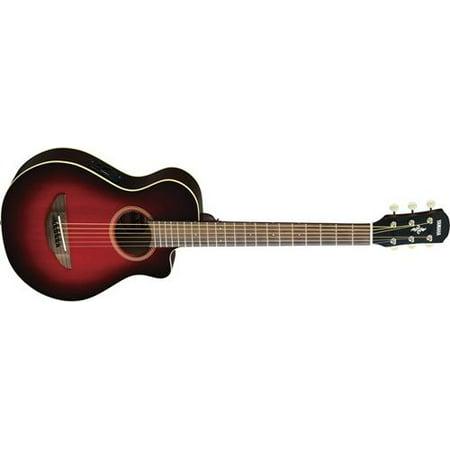 Yamaha APXT2 3/4 Size Travel Acoustic-Electric Guitar (Dark Red Burst,