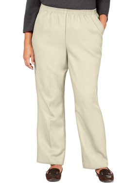 Karen Scott Womens Plus Comfy Pull On Pants