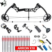 """Compound Bow, for Adults, Archery Bow Set, Hunting Equipment with Accessories, 19-30"""" Draw Length,15-70Lbs Draw Weight(Ship from USA Warehouse) (red, Blue, camo, Black)"""