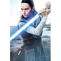 "Star Wars: Episode VIII - The Last Jedi - Movie Poster (Rey / Lightsaber) (Size: 24"" x 36"")"