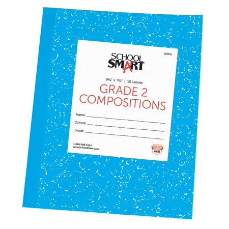 School Smart Skip-A-Line Composition Books, Grade 2, 50 Sheets, Blue