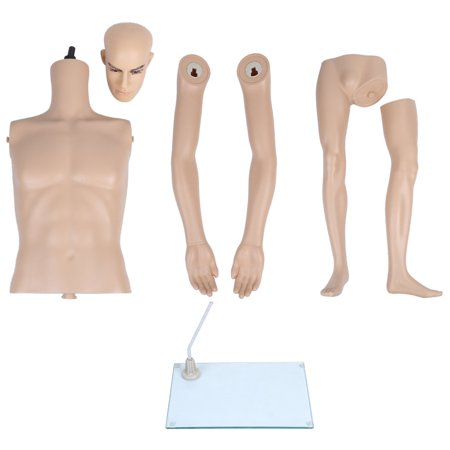 Unbreakable Realistic Plastic Male Full Body Mannequin Manikin Metal Stand Display Easy Assemble For Clothes Dress Form