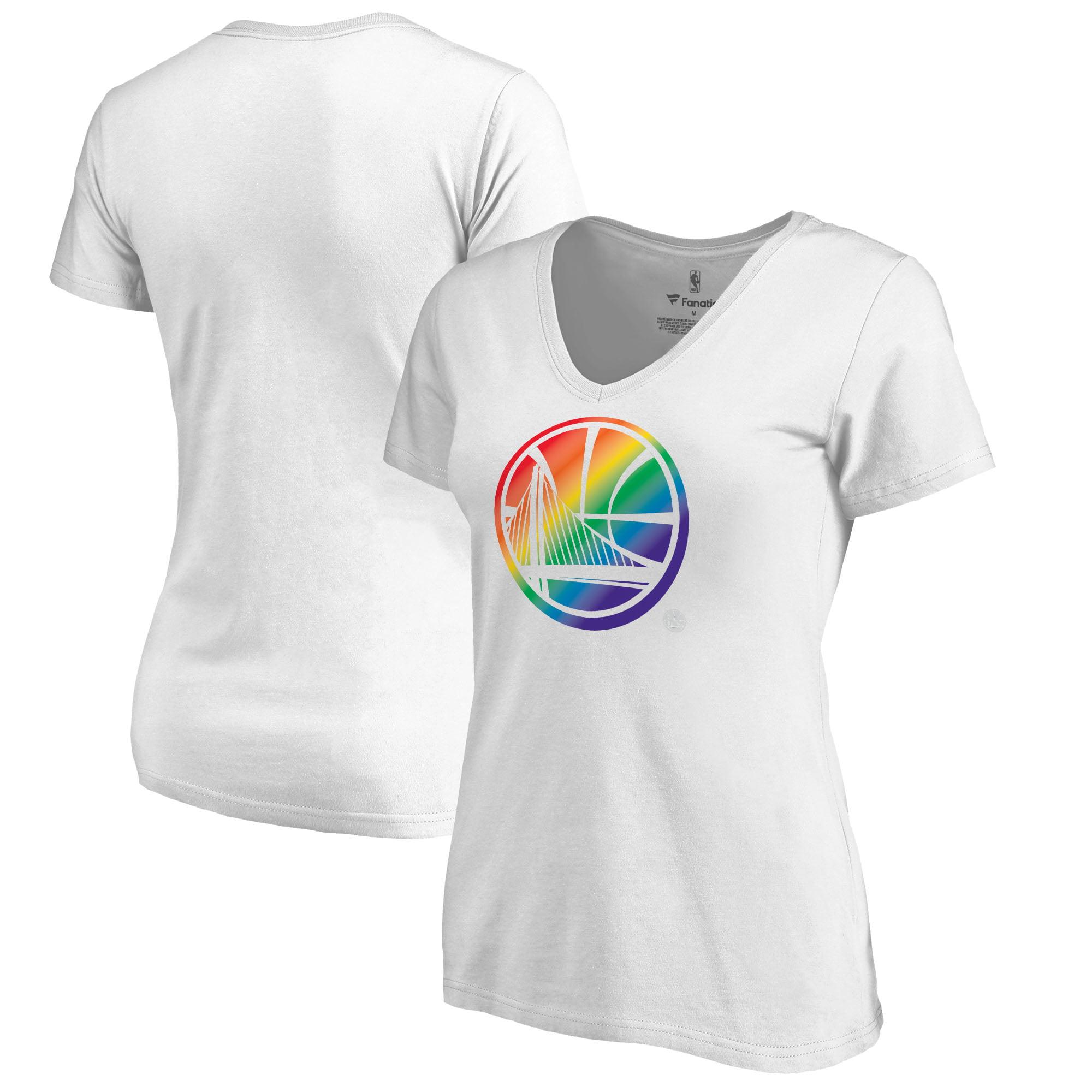 Golden State Warriors Fanatics Branded Women's Team Pride V-Neck T-Shirt - White