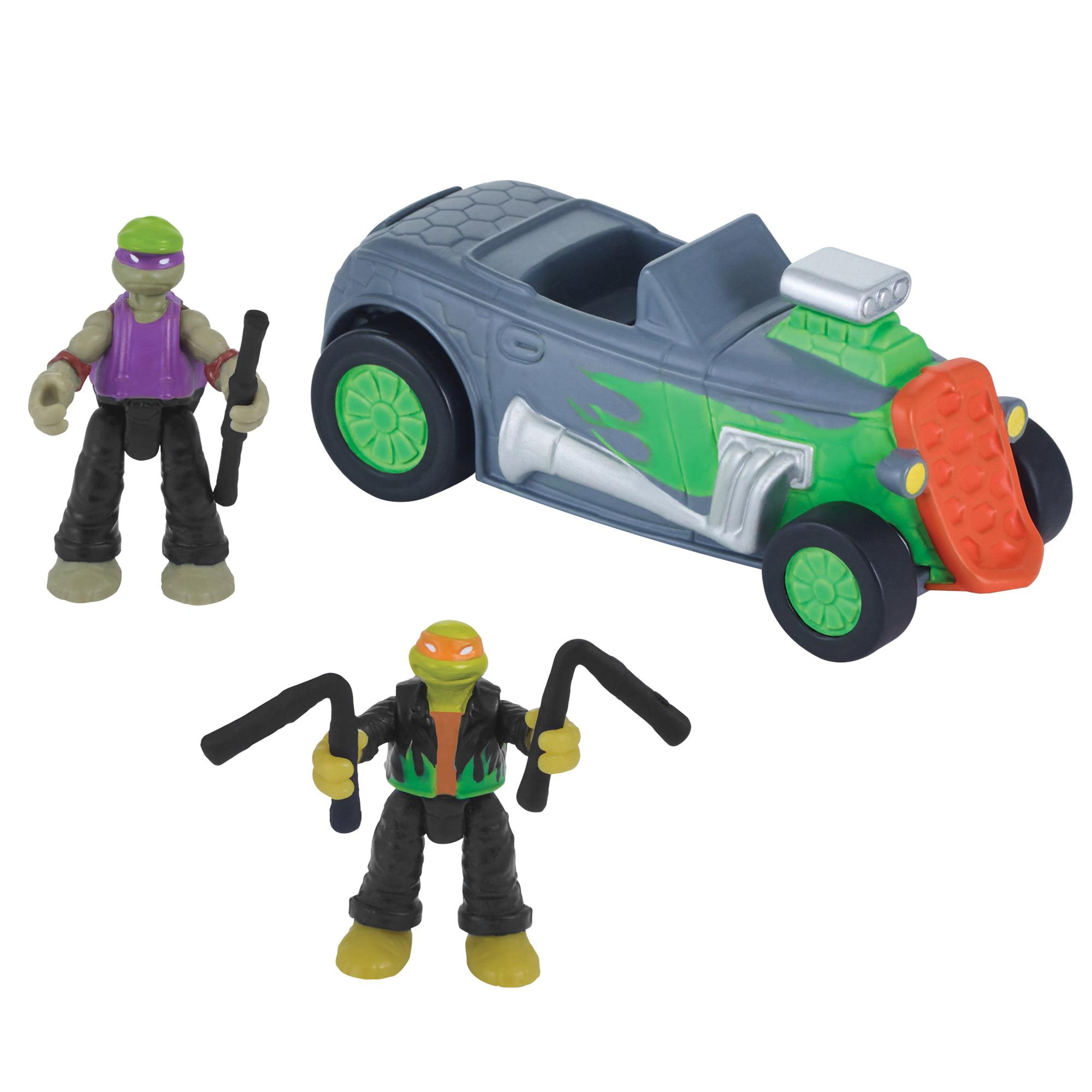 "Teenage Mutant Ninja Turtles Micro Mutant Hot Rod with 1.15"" Michelangelo and Donatello"