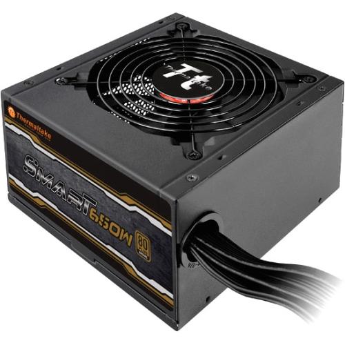 Thermaltake Smart 650W 80+ Bronze 12V ATX Computer Desktop PC Power Supply - SP-650PCBUS