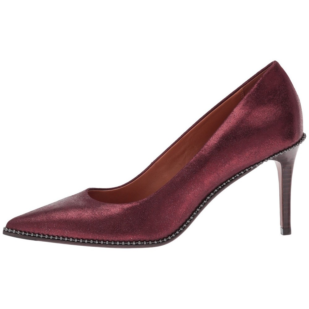 b0613f427a6e Coach - Coach Womens Beadchain Pump Leather Pointed Toe Classic Pumps -  Walmart.com