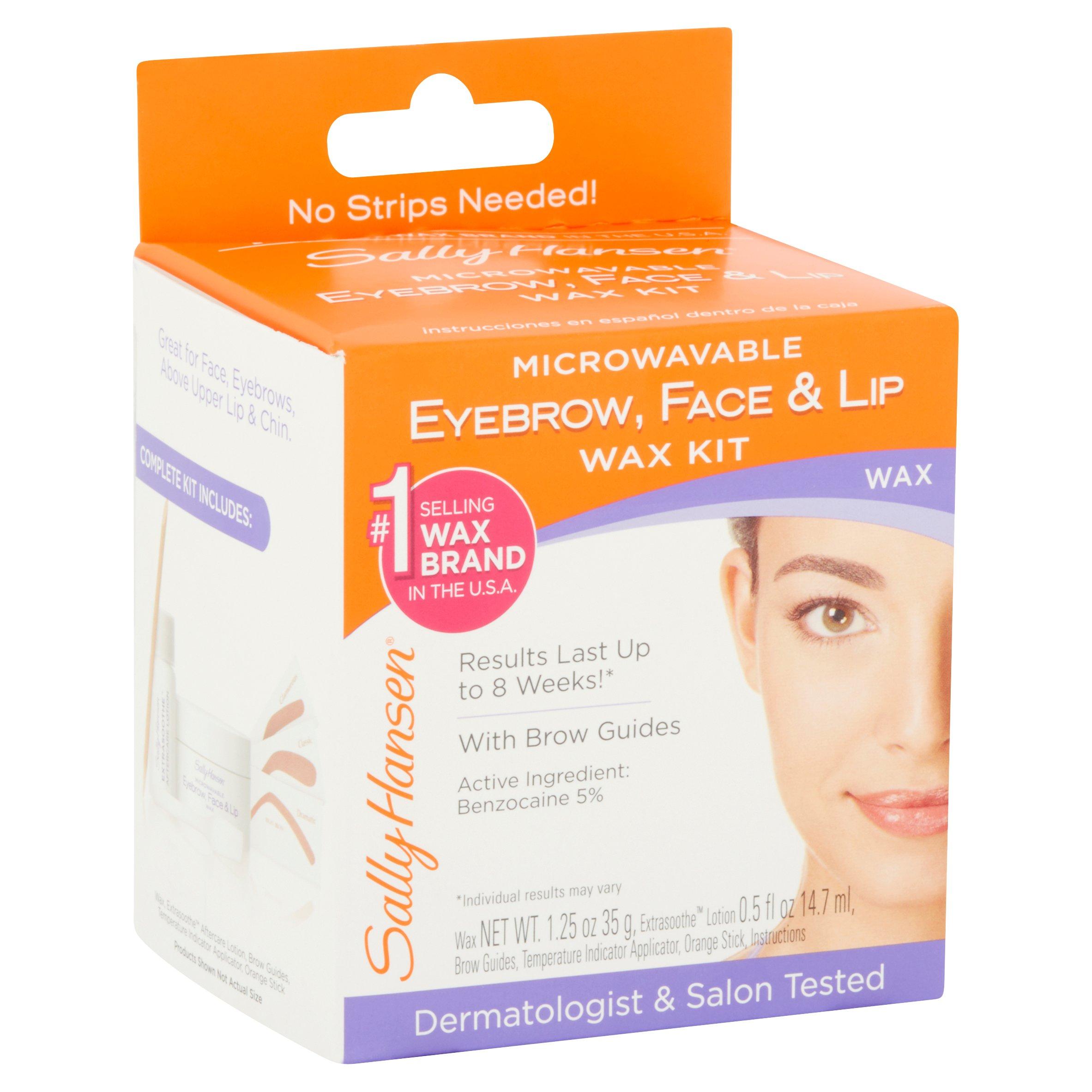 Sally Hansen Microwavable Eyebrow Lip And Face Wax 031 Oz