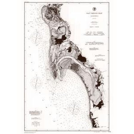 Historical Nautical Chart CP2278C: CA, Navigation Chart of San Diego Bay Year 1894 ()