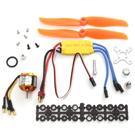 - RC 2200KV Brushless Motor A2212-6 + 30A ESC + Free Mount Kit For RC Airplane