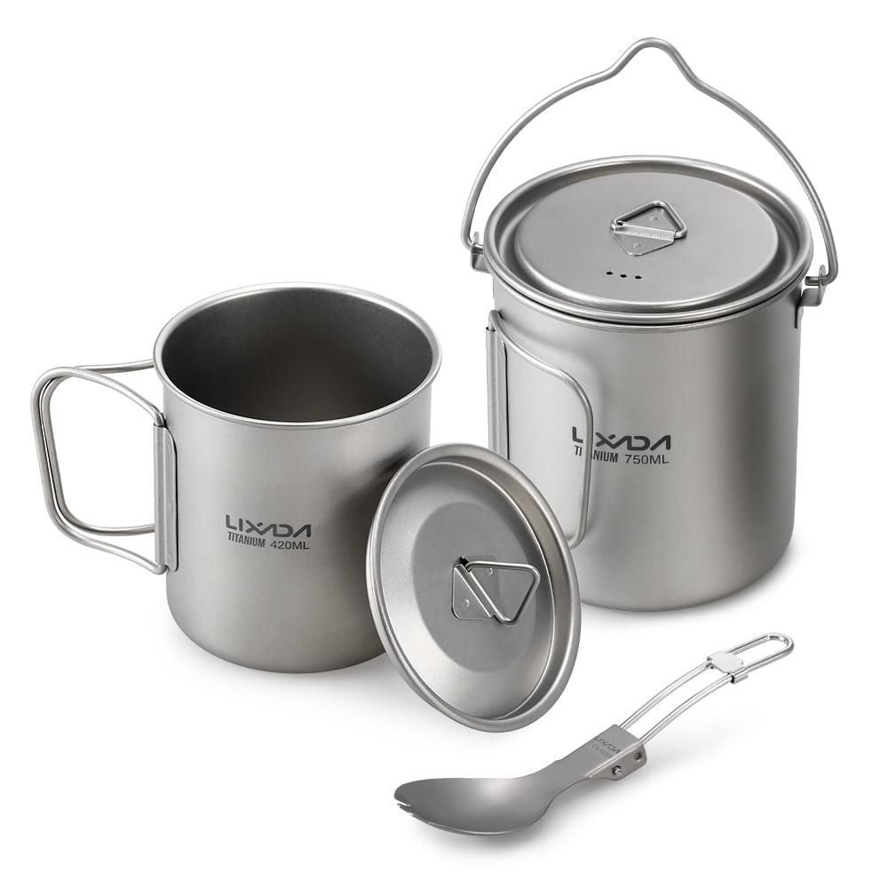 Lixada Ultralight Titan Cup Outdoor-tragbare Camping Picknick Wasser Cup A8Q3