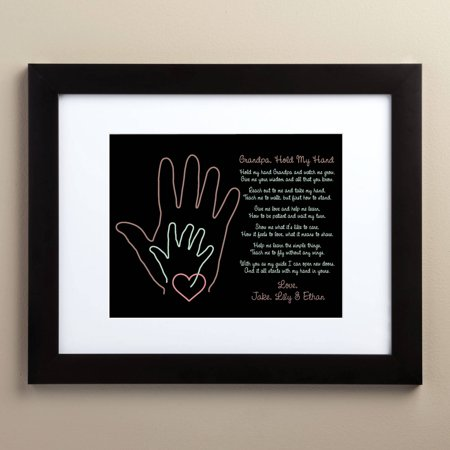 Hand Print (Personalized Grandpa Hold My Hand Framed)