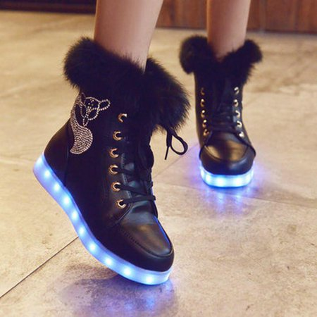 LED Ankle Shoes  Women