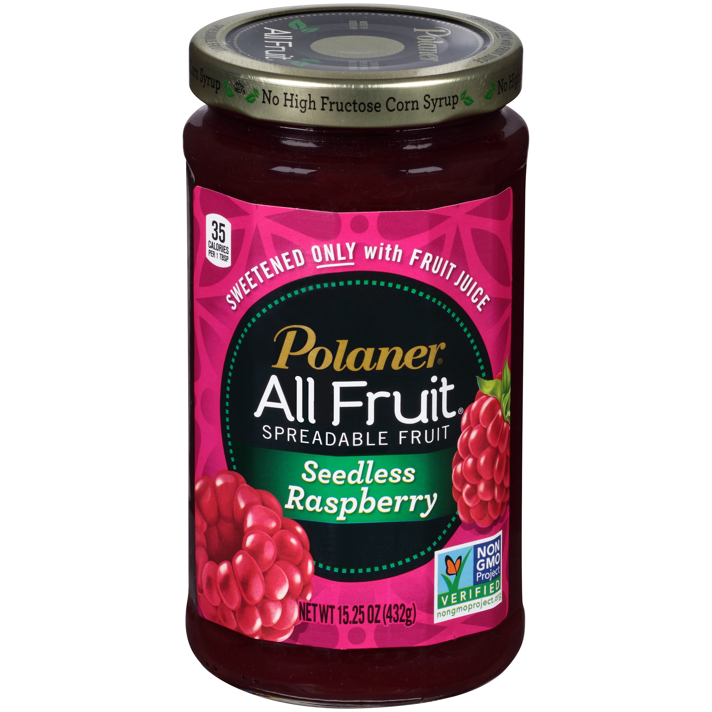 Polaner All Fruit Spreadable Fruit Seedless Raspberry, 15.25 oz