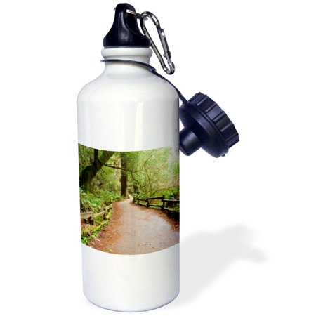 3Drose California  Marin County  Muir Woods Nm  Path   Us05 Iho0150   Inger Hogstrom  Sports Water Bottle  21Oz