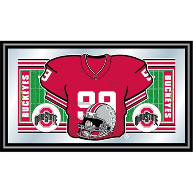 Trademark Global Ohio State University Football Framed Jersey Mirror