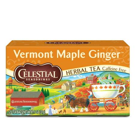 Celestial Seasonings Vermont Maple Ginger Herbal Tea, 20 Count Box ()