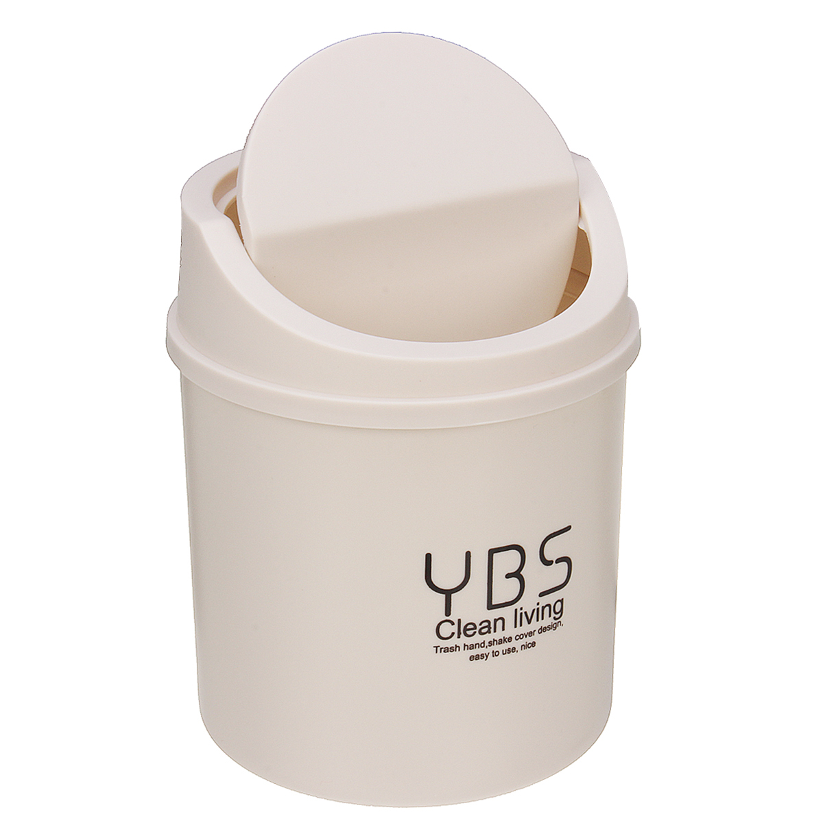 Desk Waste Bin Trash Can Desktop Garbage Basket Table Style Shake Lid Home-US