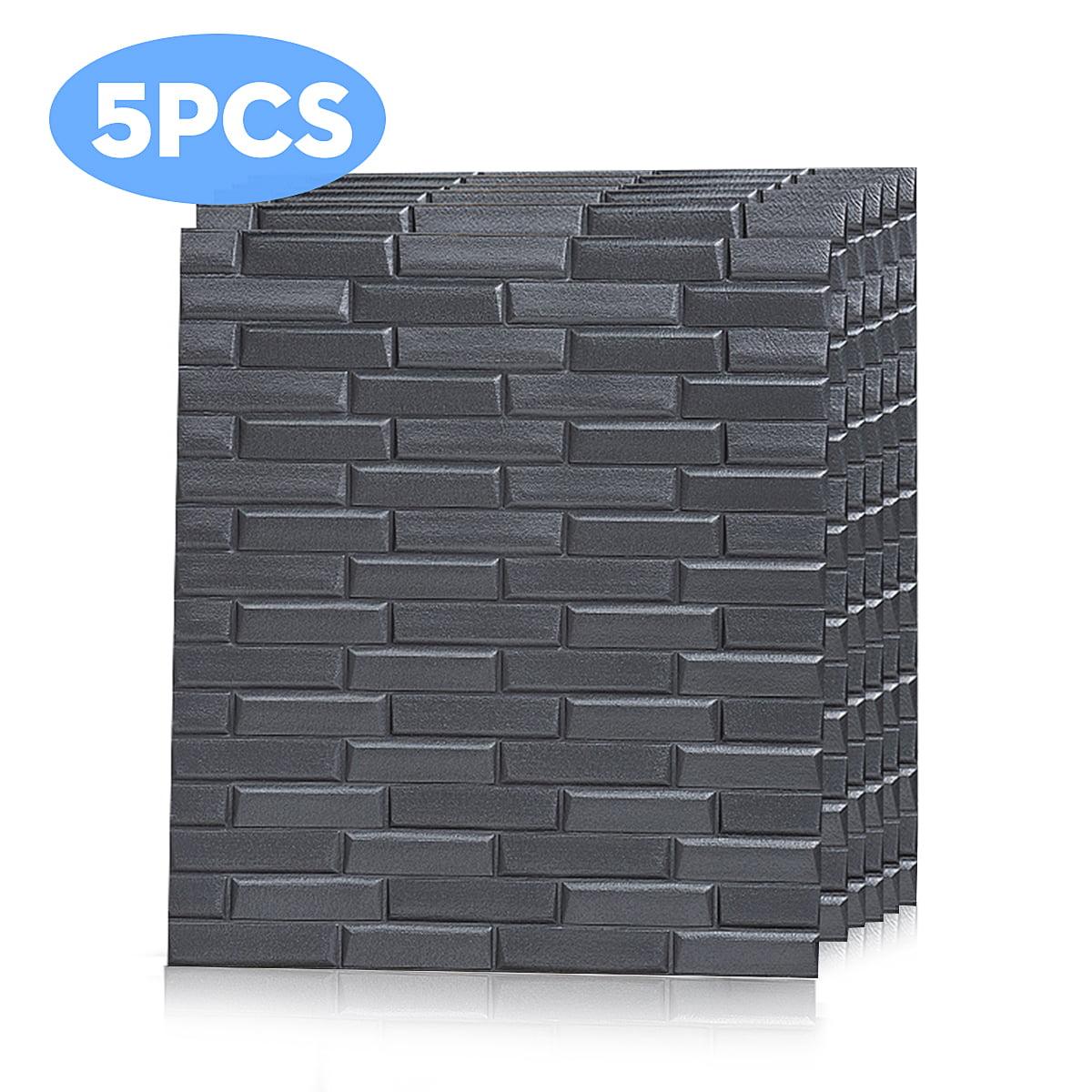 3D Tile Brick Wall Stickers Self-adhesive Waterproof Foam Panel Sticker Decors