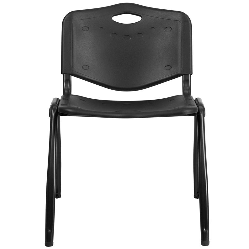 Flash Furniture Hercules Polypropylene Stacking Chair in Black - image 1 of 4