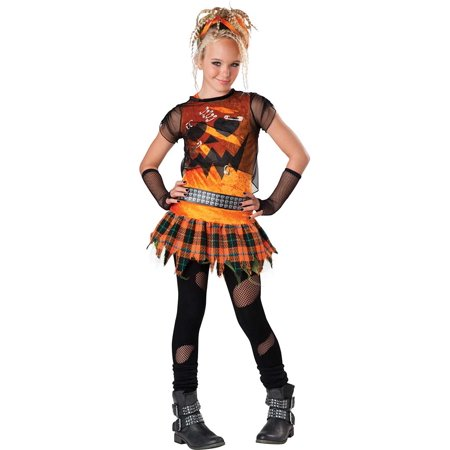Tween Punk 'N Pumpkin Girl Costume by Incharacter Costumes LLC (Tween Costumes)