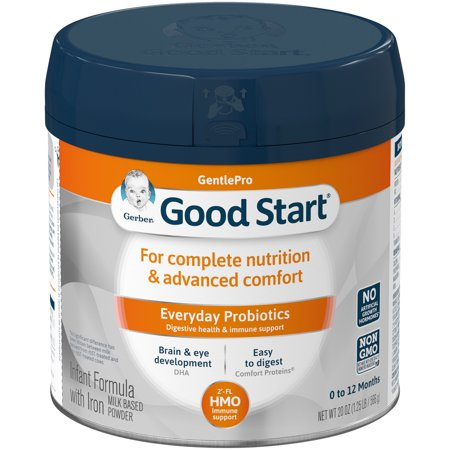 Gerber Good Start GentlePro Powder Infant Formula, 20 oz Container (Pack of (Gerber Roll On Baby Powder 2 Oz)