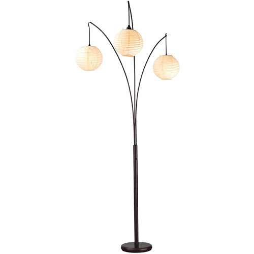 Adesso Spheres Arc Floor Lamp, Antique Bronze Finish
