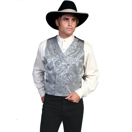 Western Vest Mens Silk Jacquard Formal Dress Button 535344](Western Vests)