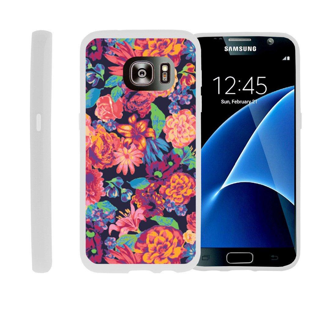 Flexible Case for Samsung Galaxy S7 Edge | SM-G935 Case [ Flex Force ] Lightweight Flexible Phone Case - Floral Dream