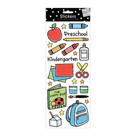 Me And My Big Ideas Ellens Preschool With Glitter Stickers 5.5 X 12