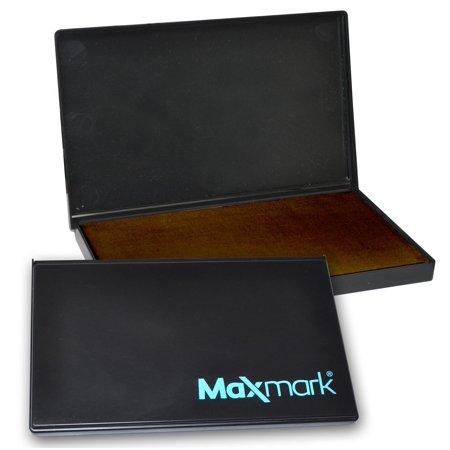 MaxMark Large Brown Stamp Pad - 4-1/4 by 7-1/4 - Premium Felt Pad (Large Stamp Pads)